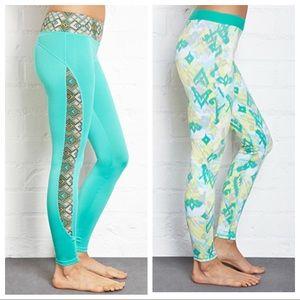 Forever21 Athletic Yoga Leggings 2 Pair Both NWT